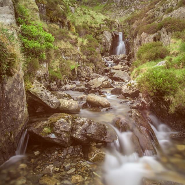 """Waterfall long exposure"" stock image"