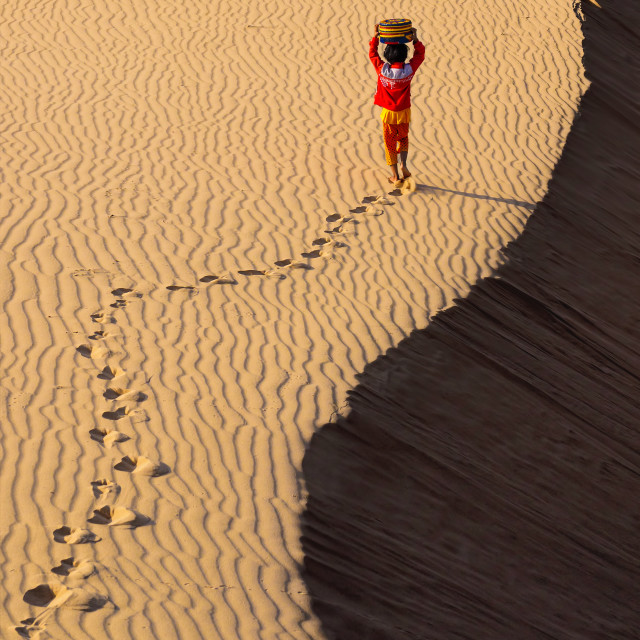 """Walk at Sand hill - Vietnam photos"" stock image"