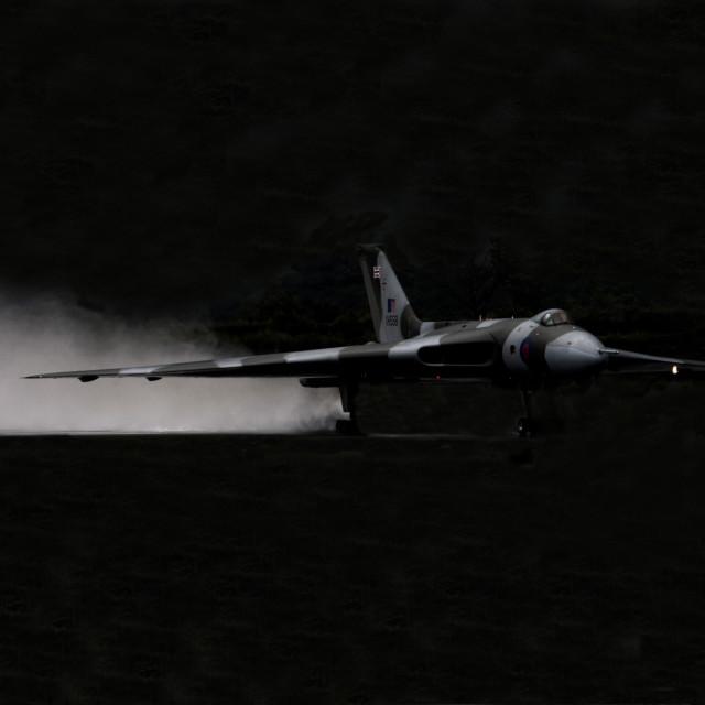 """Vulcan XH558 wet launch."" stock image"