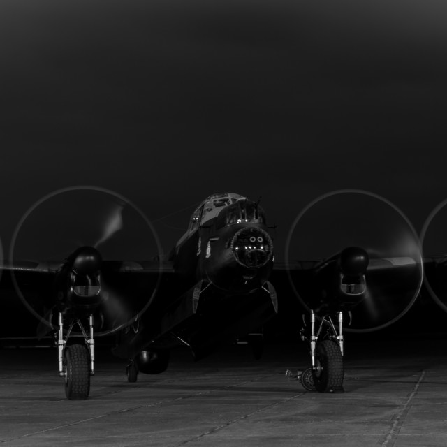 """THE LANCASTER BOMBER"" stock image"