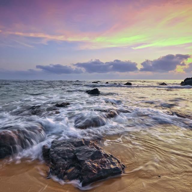 """""""Colorful sunrise over the sea"""" stock image"""