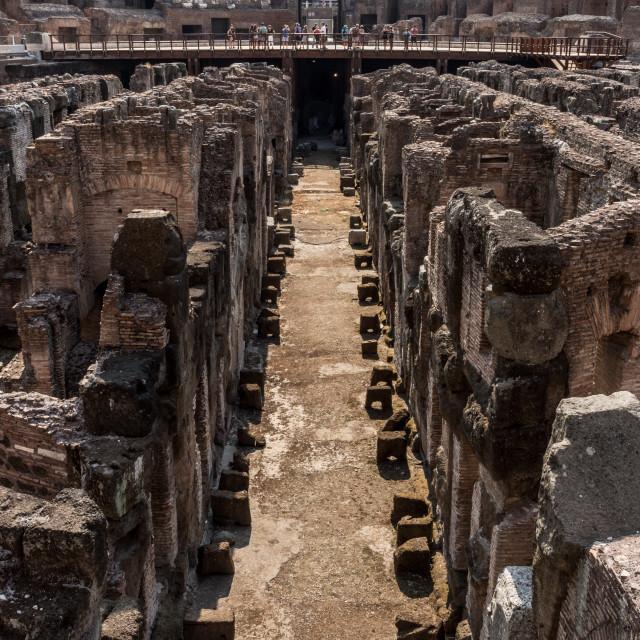 """""""Colosseum Walkway"""" stock image"""