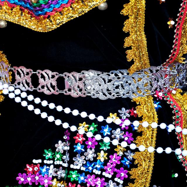 """Embroidery of Kadazandusun costume"" stock image"