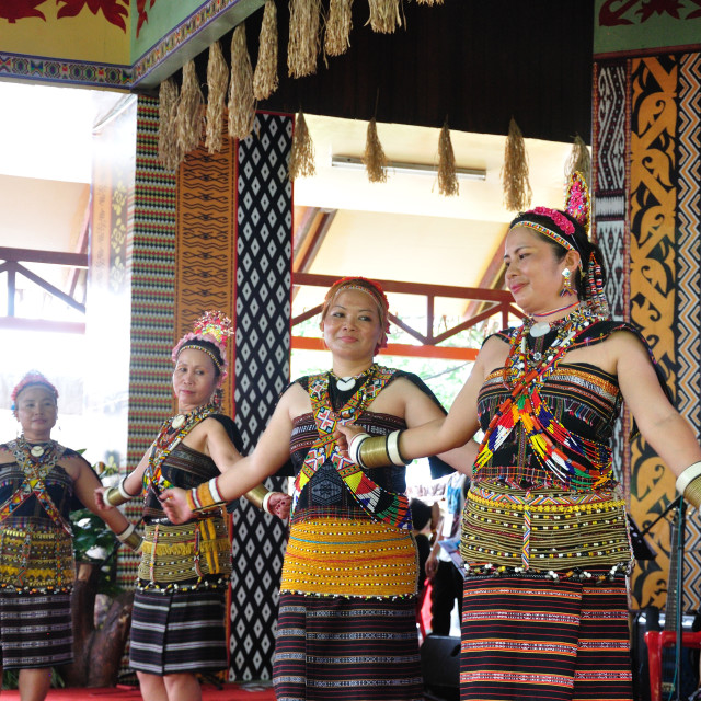 """Dancers from Murut tribe"" stock image"