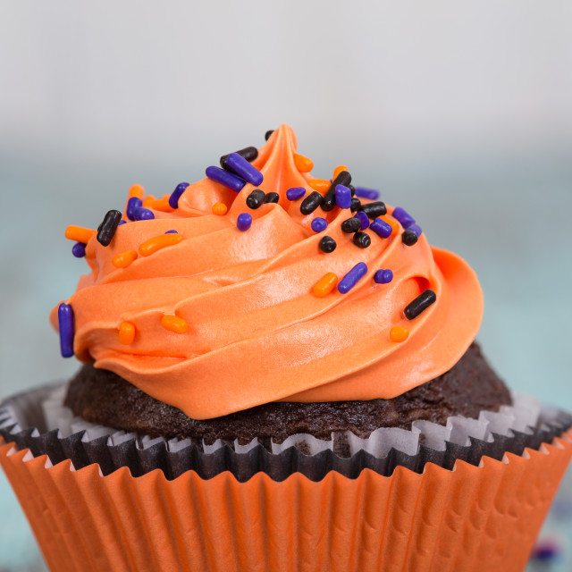 """Halloween cupcake"" stock image"