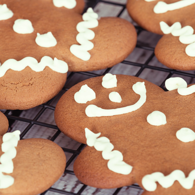 """Gingerbread man cookies"" stock image"