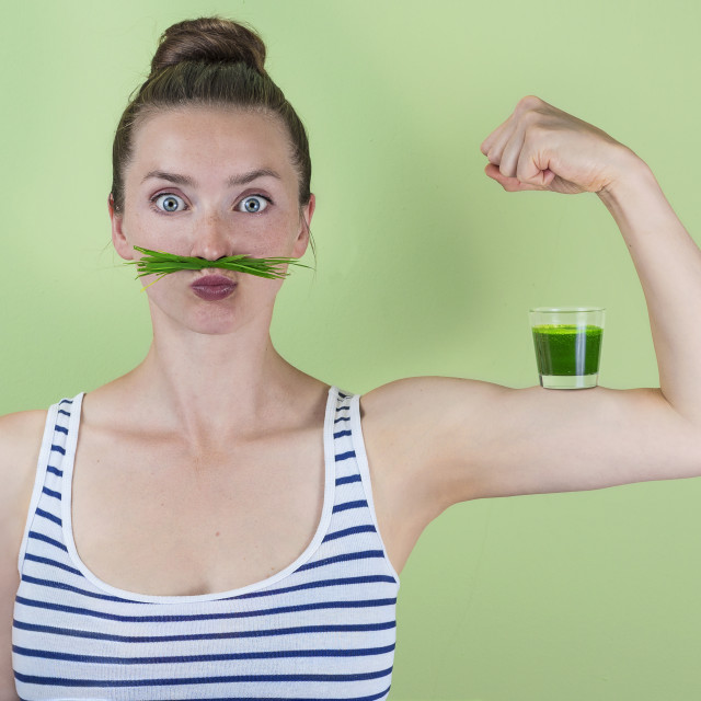 """Wheatgrass power!"" stock image"