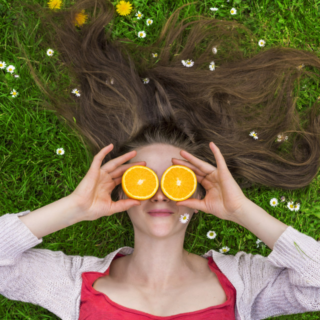 """Summer oranges"" stock image"