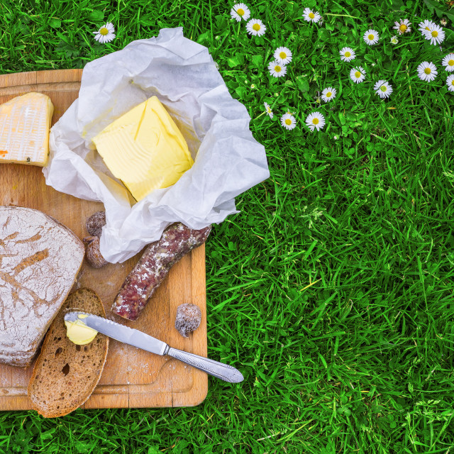 """Bread,butter and cheese"" stock image"