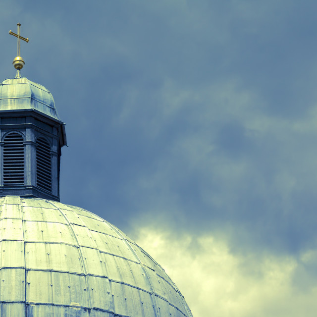 """Detail of a Cupola"" stock image"