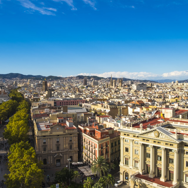 """Las Ramblas of Barcelona"" stock image"