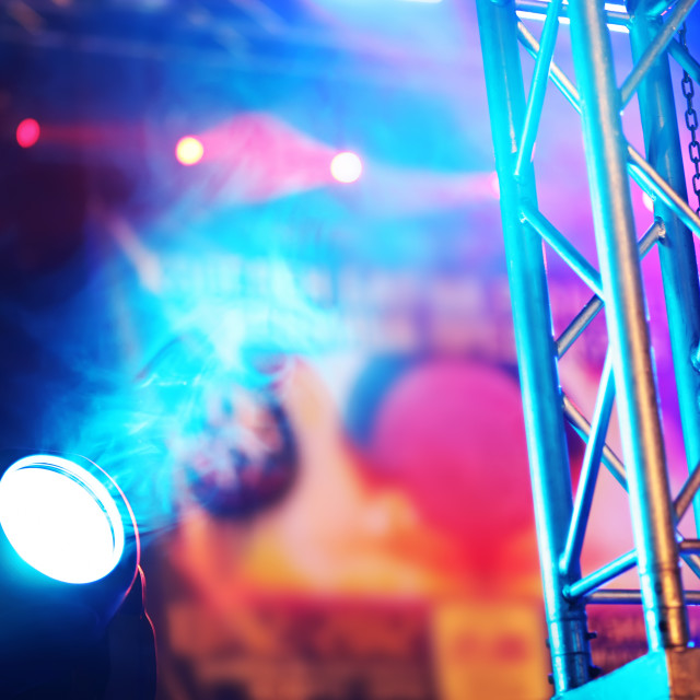 """""""Stage lights at the concert"""" stock image"""