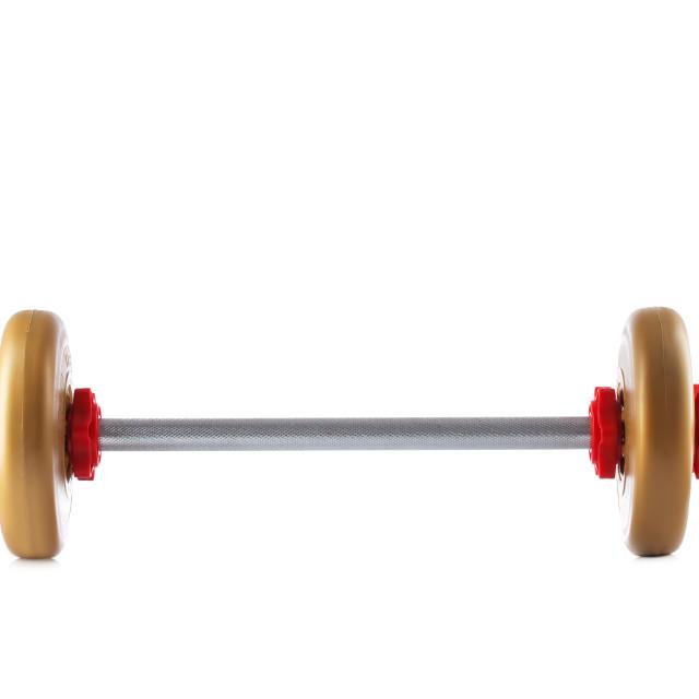 """Fitness rod isolated on white"" stock image"