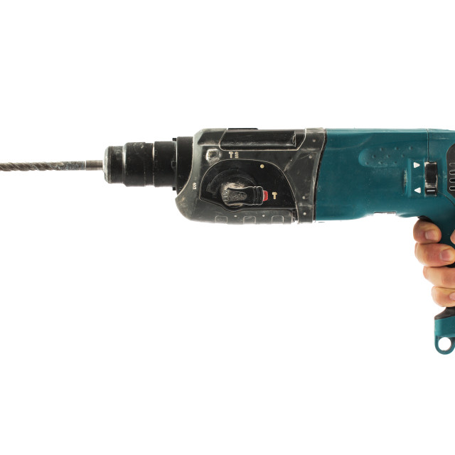 """Electric drill isolated on white background"" stock image"
