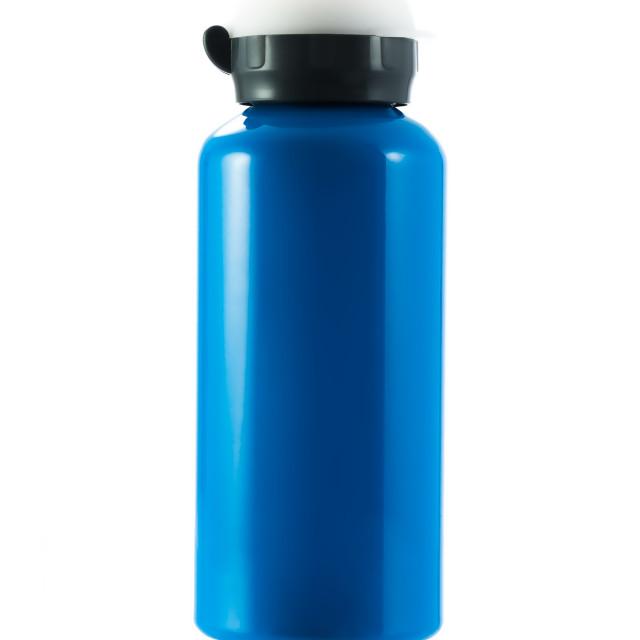 """""""Blue tumbler isolated on white background"""" stock image"""