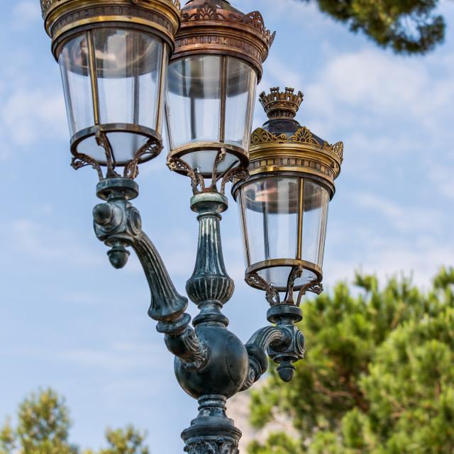 """Vintage city streetlamp"" stock image"