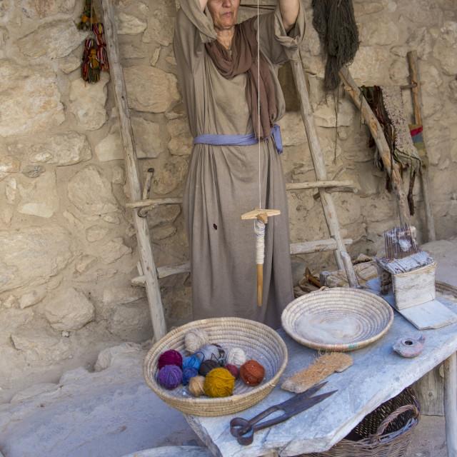 """Palestinian weaver"" stock image"