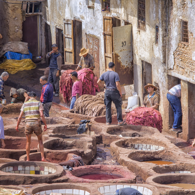 """Tannery in Fez"" stock image"