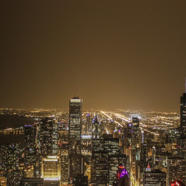 """""""Chicago at night"""" stock image"""