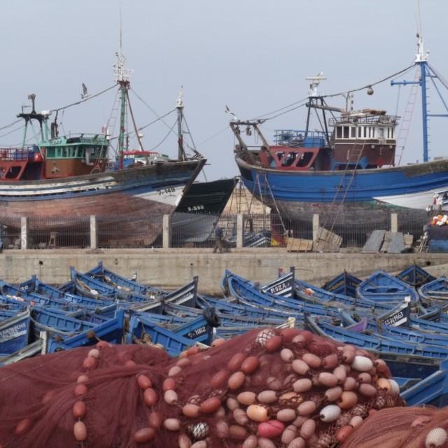 """Fishing Boats Essaouira Morocco"" stock image"