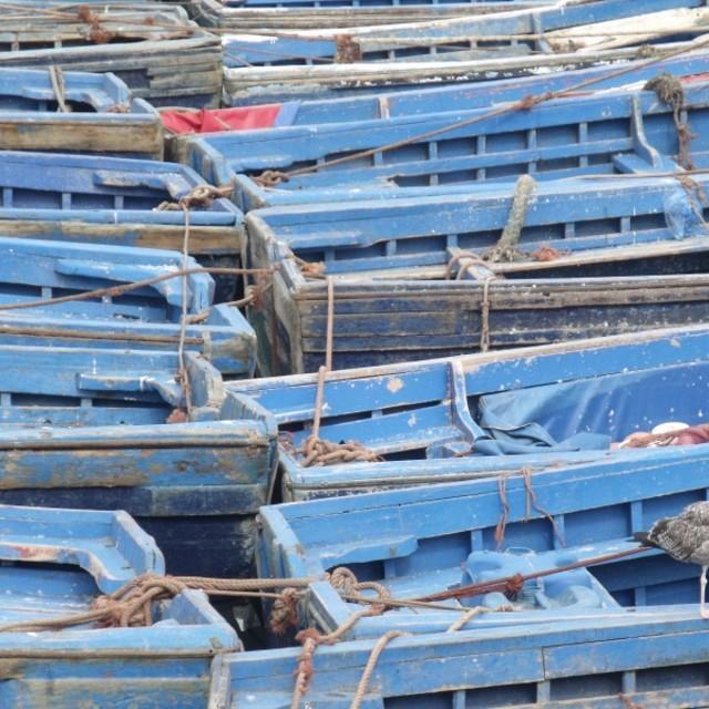 """Fishing Boats, Essaouira Morocco"" stock image"