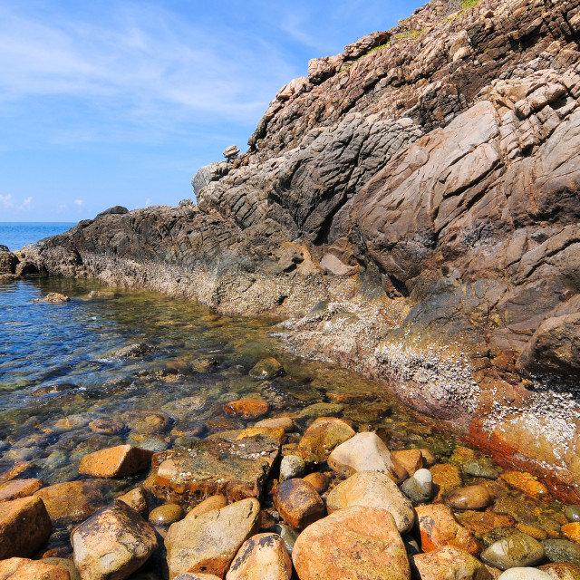 """Beautiful landscape with rocks and sea"" stock image"