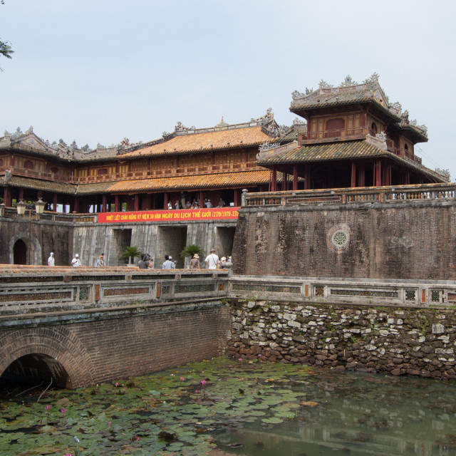 """Main gate of The Imperial City in Hue"" stock image"