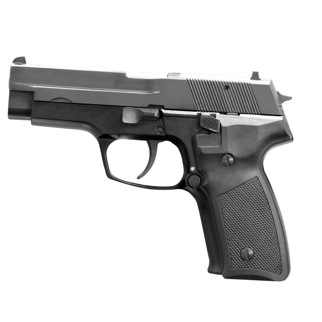 """gun isolated on white"" stock image"