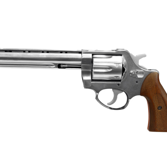 """revolver isolated on white"" stock image"