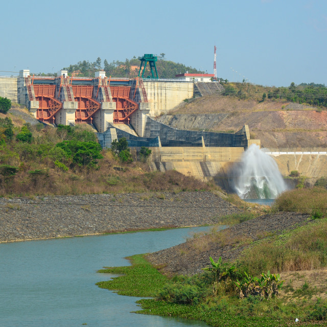 """Tri An hydropower plants in Vietnam"" stock image"