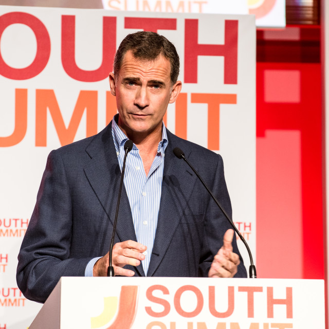 """King Felipe VI of Spain at South Summit"" stock image"