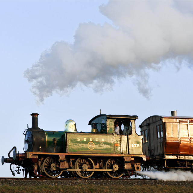 """""""Tank engine flat out"""" stock image"""