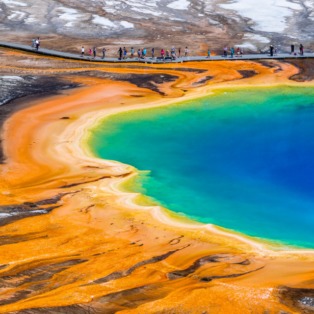 """Grand Prismatic Spring"" stock image"