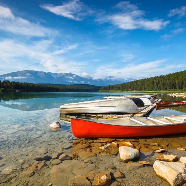 """Patricia Lake"" stock image"