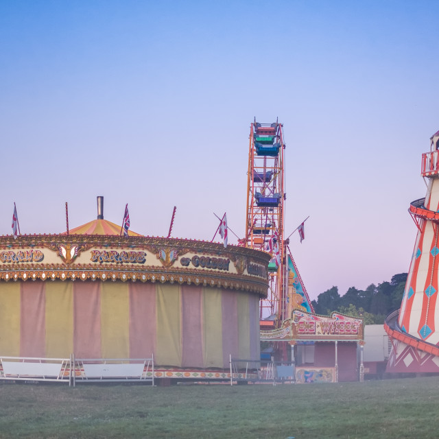 """Early Morning Fairground"" stock image"
