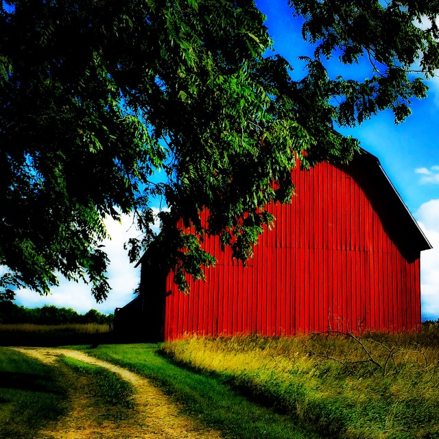 """""""Red Barn"""" stock image"""
