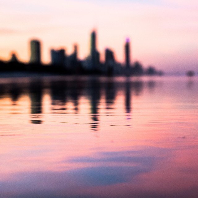 """Gold Coast sunset"" stock image"