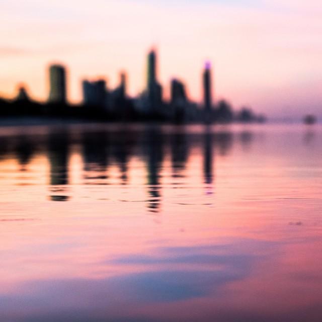 """""""Gold Coast sunset"""" stock image"""