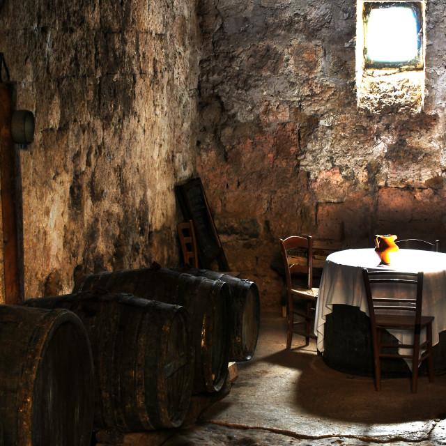 """""""Old cellar Civita di bagnoregio (Italy)"""" stock image"""
