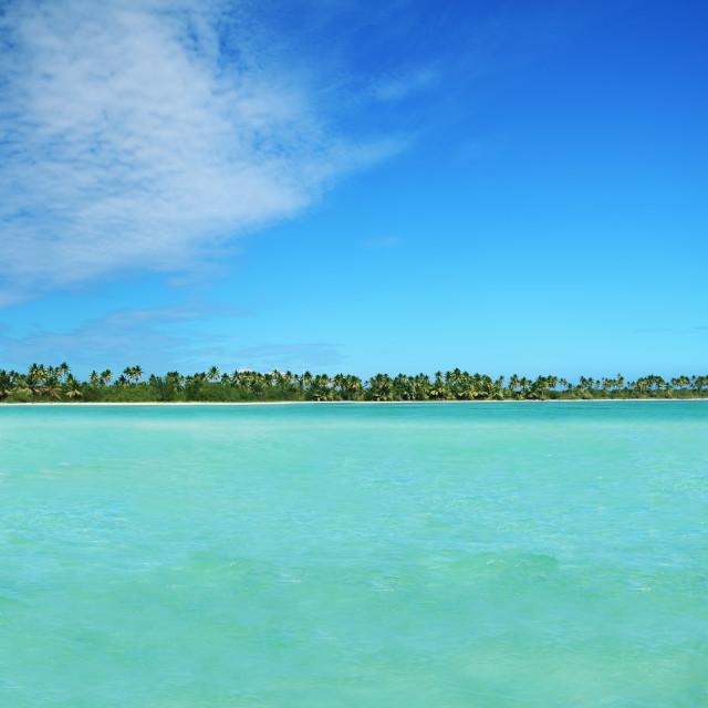 """Landscape of paradise tropical island beach"" stock image"