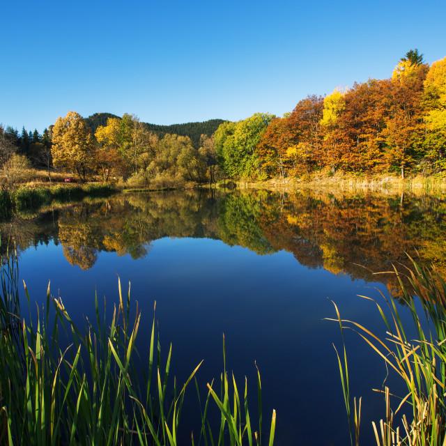"""""""Mountain lake, autumn shot"""" stock image"""