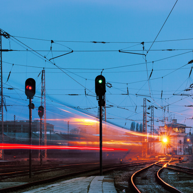 """Railway station"" stock image"