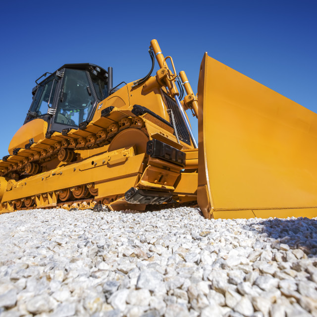 """Heavy Bulldozer"" stock image"