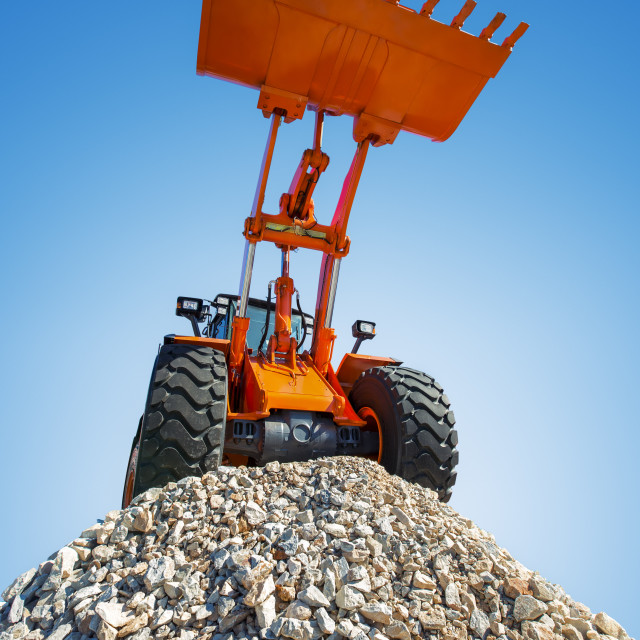 """Excavator on the top"" stock image"
