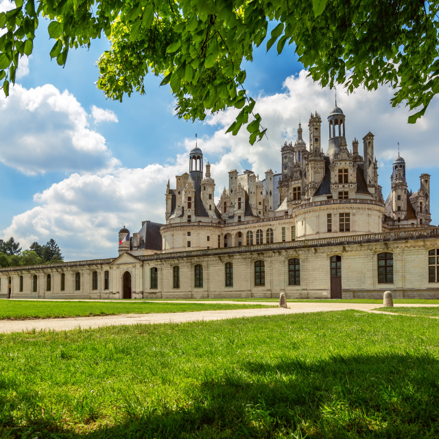 """The royal Castle of Chambord in Cher Valley, France"" stock image"
