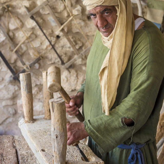 """Palestinian carpenter"" stock image"