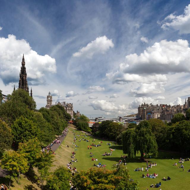 """""""Princes Street Gardens, Edinburgh"""" stock image"""