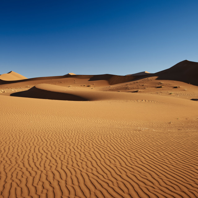 """desert landscape of Namib at Sossusvlei, Namibia"" stock image"