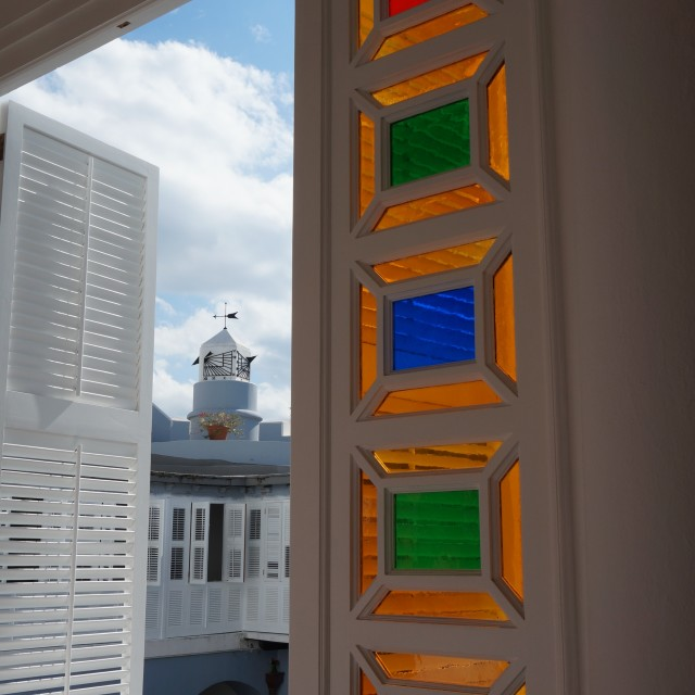 """Colorful window panes"" stock image"