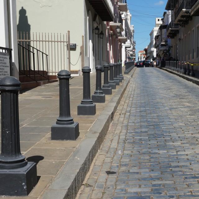 """Cobble stone street"" stock image"